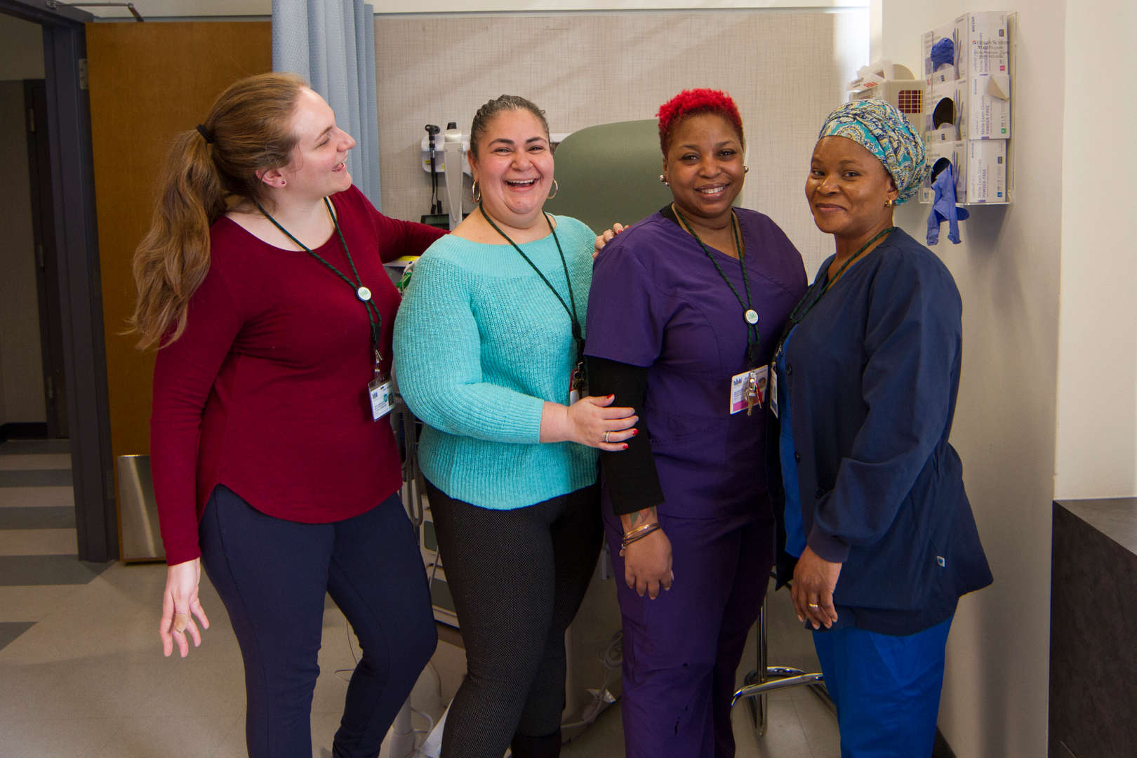 The clinic staff poses for photo