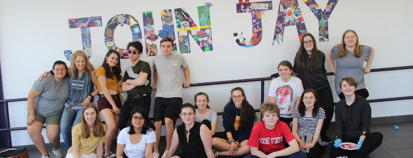 It's complete! Meet the leaders of the Art Club and take a closer look at the John Jay Mural here