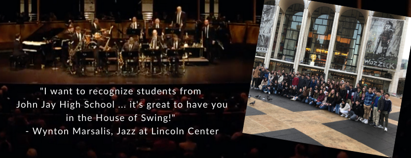 Students traveled to NYC to hear the NY Philharmonic, take abackstage tour, and enjoy Jazz at Lincoln Center!
