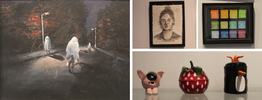 Students' paintings, photography, pottery and more is on display in the John Jay Gallery.