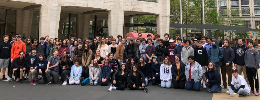 Music History & Theory and Music Technology students took a backstage tour of Lincoln Center and heard the NY Philharmonic as well as Jazz at Lincoln Center!