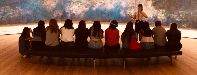 Humanities Research students at the Museum of Modern Art.