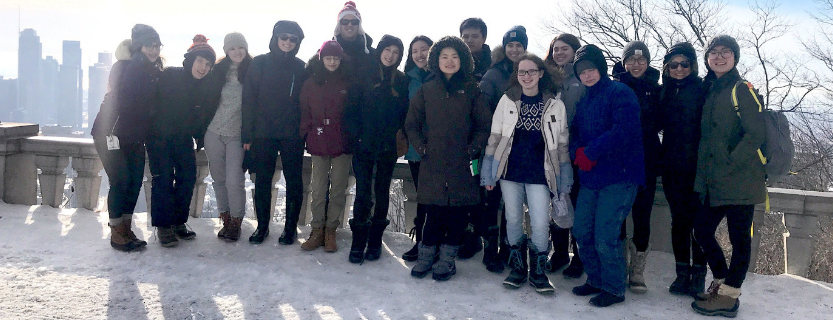 French students visited Montreal, the fourth largest French-speaking city in the world