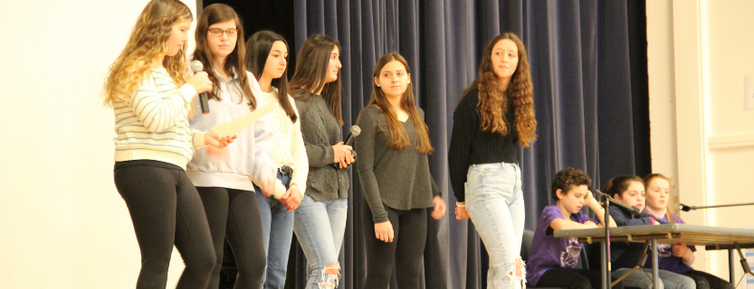 Students visit Katonah Elementary School to lead a program on diversity.