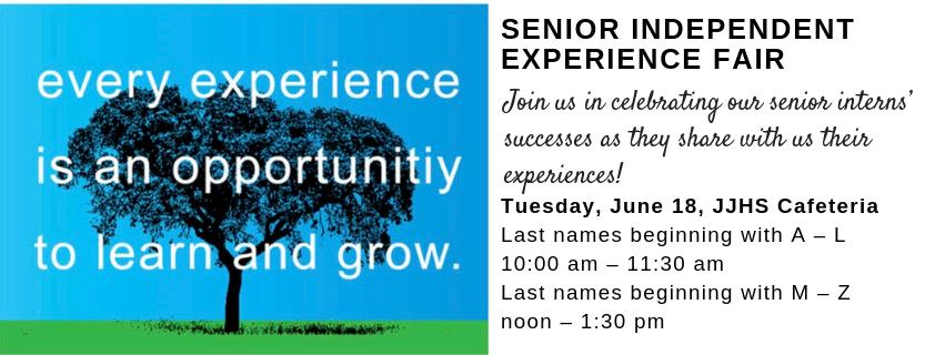 Senior independent experience fair