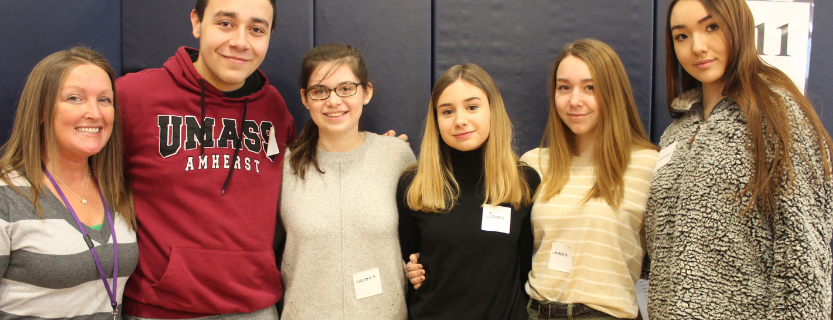 John Jay High School's A World of Difference club visited KES to talk about diversity.