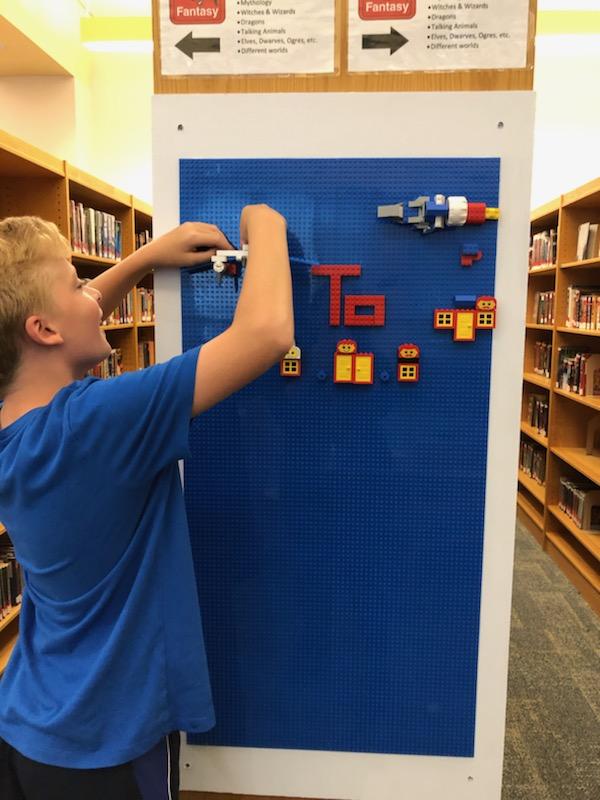 Working on Lego wall