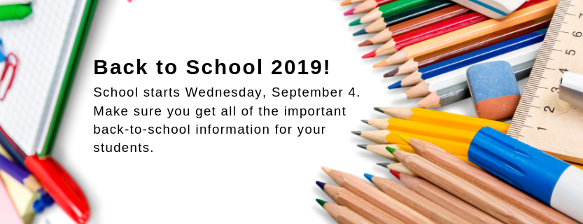 School starts Wed. Sept 4