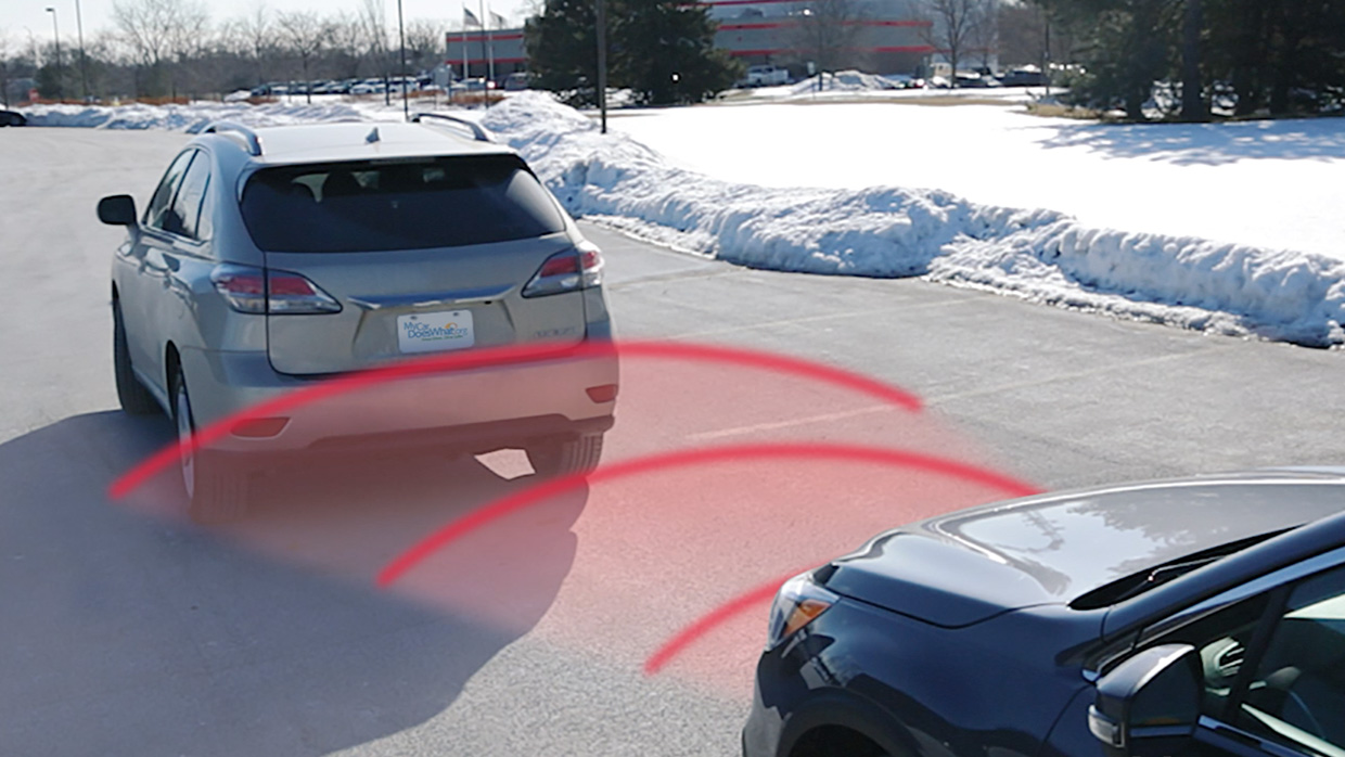If you get too close to the car in front of you, the car will slow you down.