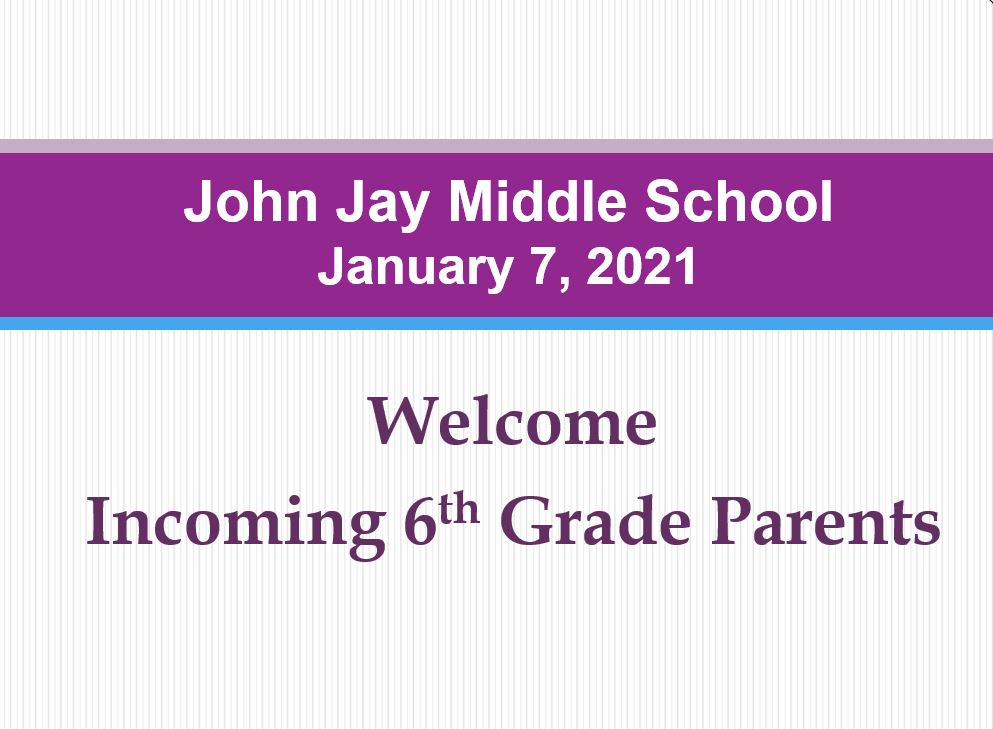 information for incoming 6th grade parents