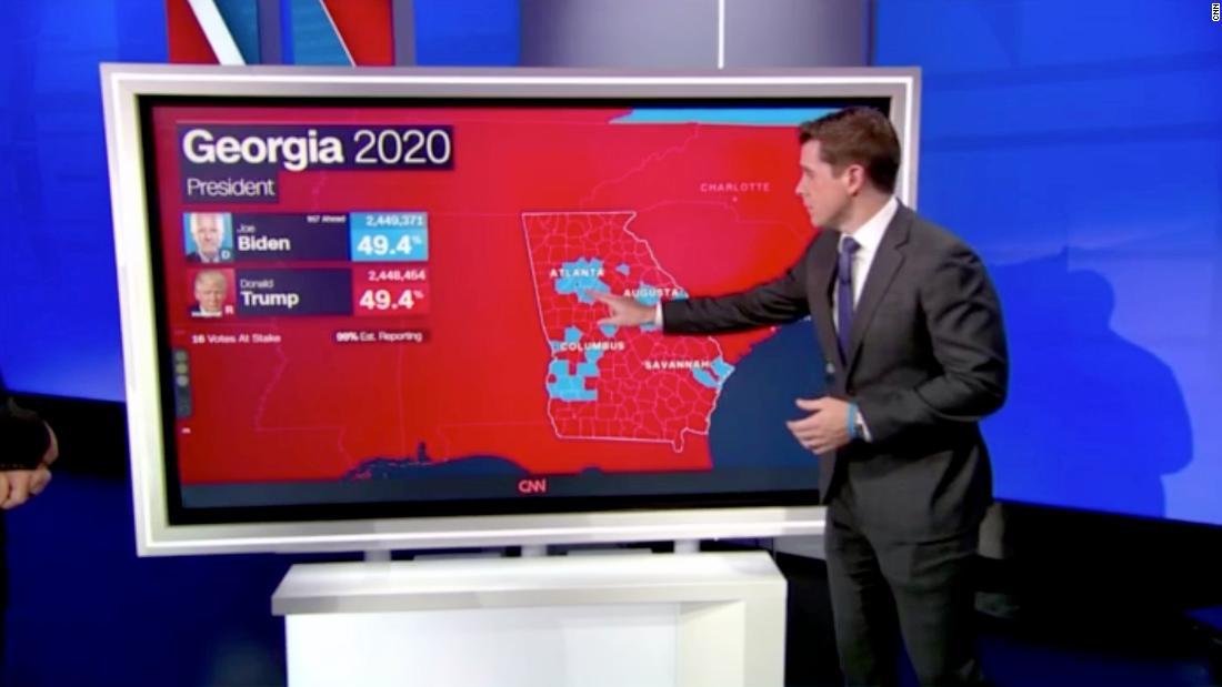 News coverage hyper-focused on swing states like Georgia.