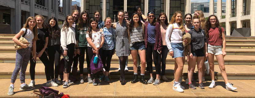 The seventh and eighth grade orchestra attended a performance of the New York Philharmonic at Lincoln Center.