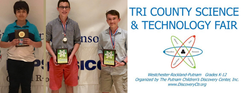 Tri-County Science Fair news: Ara Beigi placed 1st in math and computer science and was nominated for the Broadcom Masters competition. Byron Wilson and Jackson McGuire placed 2nd in the Physics category and were nominated as alternates for the Broadcom Masters.  Congratulations!