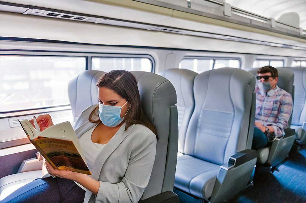 Pandemic seating on trains