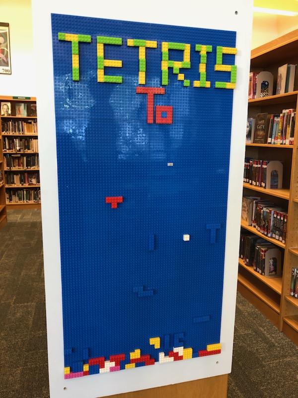 Tetris Lego wall