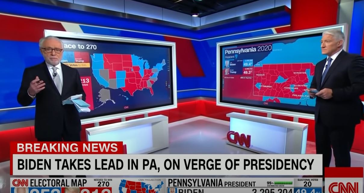 All eyes were on swing state Pennsylvania.