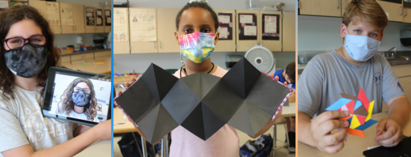 Happening in the Art Studio: illustrating with Procreate, creating an explosion book, making origami!