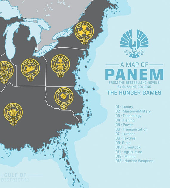 Panem, from the Hunger Games
