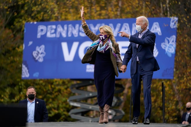 Candidate Biden and his wife campaigning in Pennsylvania