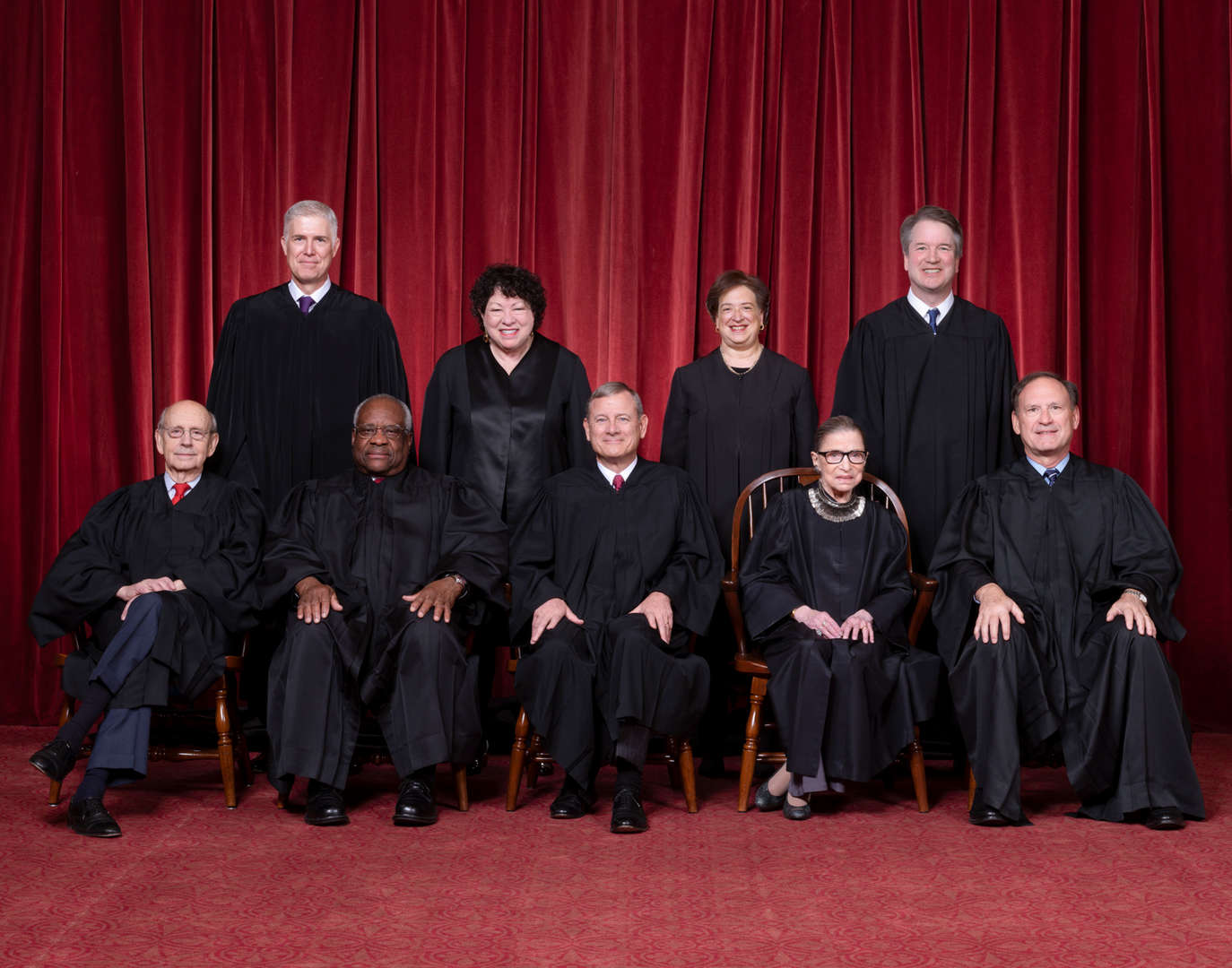 The Supreme Court at the time Ginsberg died