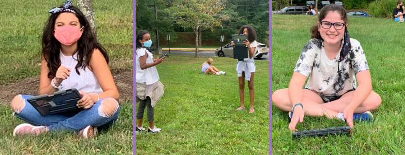 Team Aspire took a mask break and went outside to create a Padlet wall of selfies and what they ASPIRE to be or do!