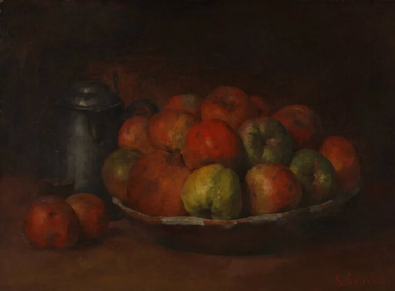 Still Life with Apples and a Pomegranate (Courbet, 1872)
