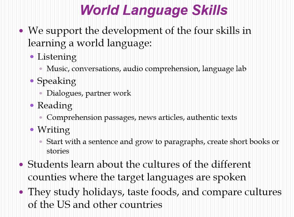 world language skills