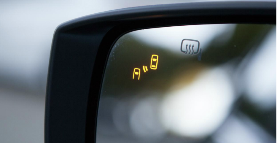 If you try to change lanes, the car will let you know if there is another car in your blind spot.