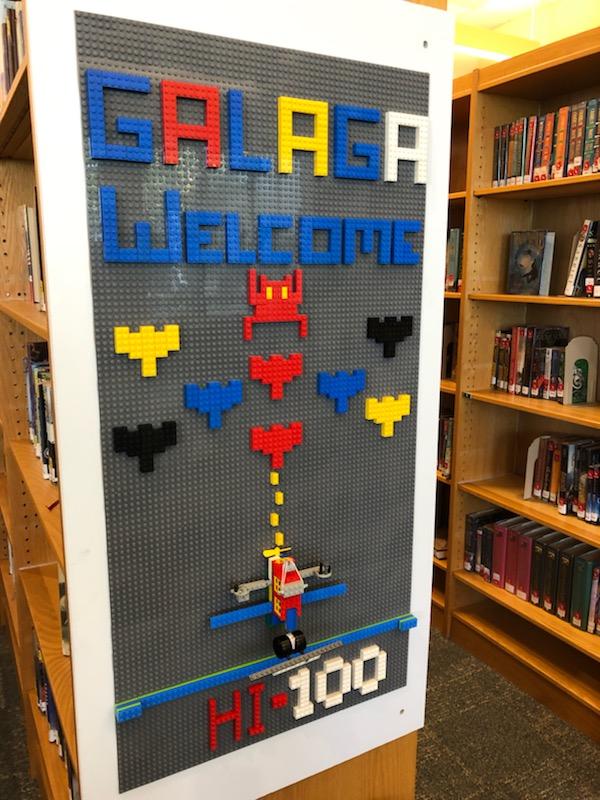 Galaga Lego wall
