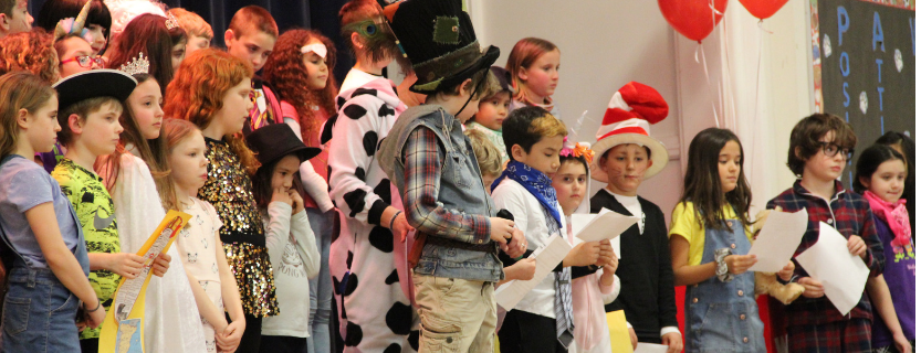 Students dressed as favorite book characters for the final day of PARP.