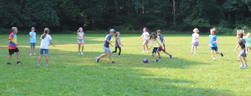 Physical education fun and games -- the year starts with a soccer unit!