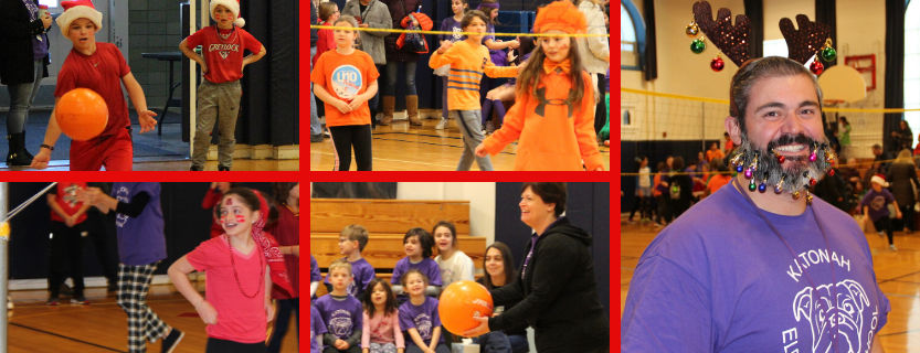 The annual 5th graders vs teachers volleyball game!