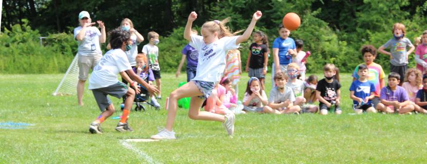 fifth grade kickball game