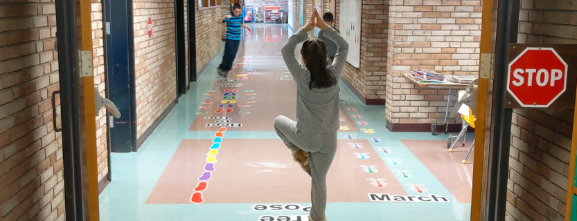 sensory path in the C wing hallway.