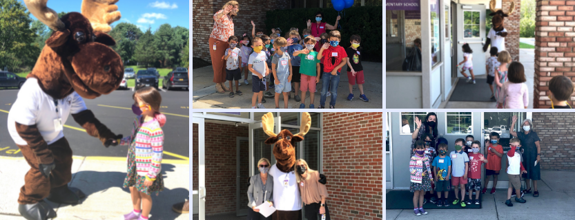 Max the Moose welcomes kindergarteners and new families!