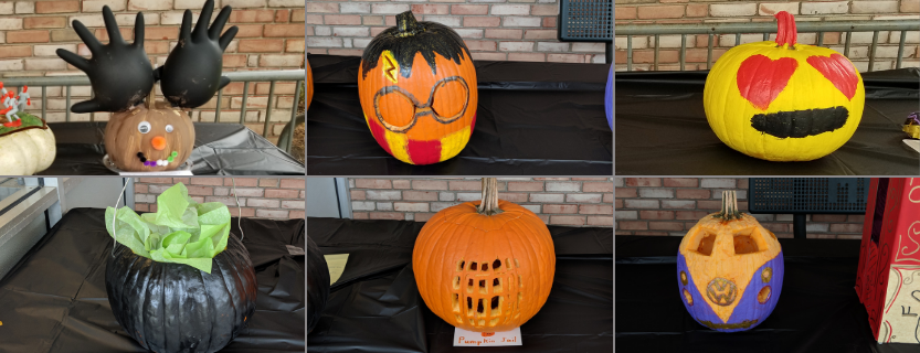 Just some of the amazing creations in The Great Pumpkin Decorating Contest!