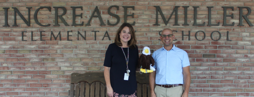 """""""Welcome back!"""" - Principal Kerry Ford and Assistant Principal Dr. Michael Weschler"""
