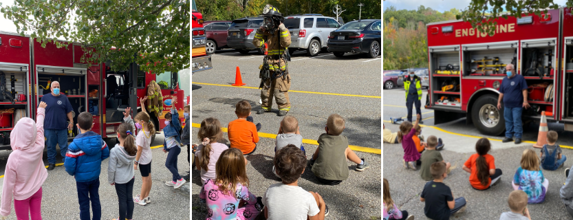 The Golden's Bridge Fire Department visited for Fire Safety Week!