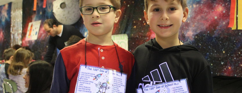 The first grade celebration for the 100th day of school was out of this world!
