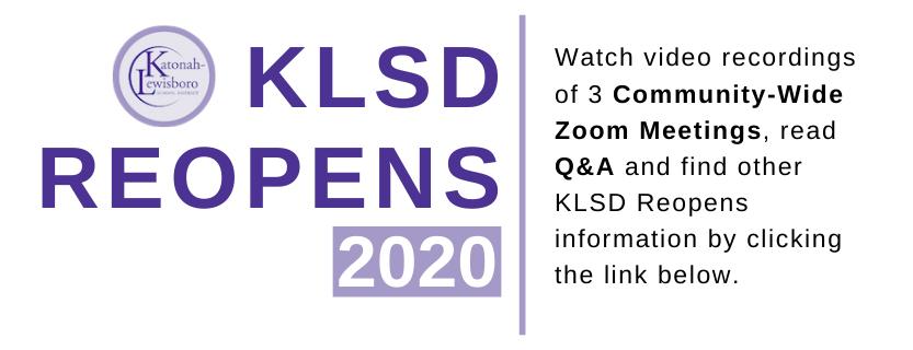 KLSD Reopens