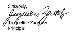 Principal's Signature
