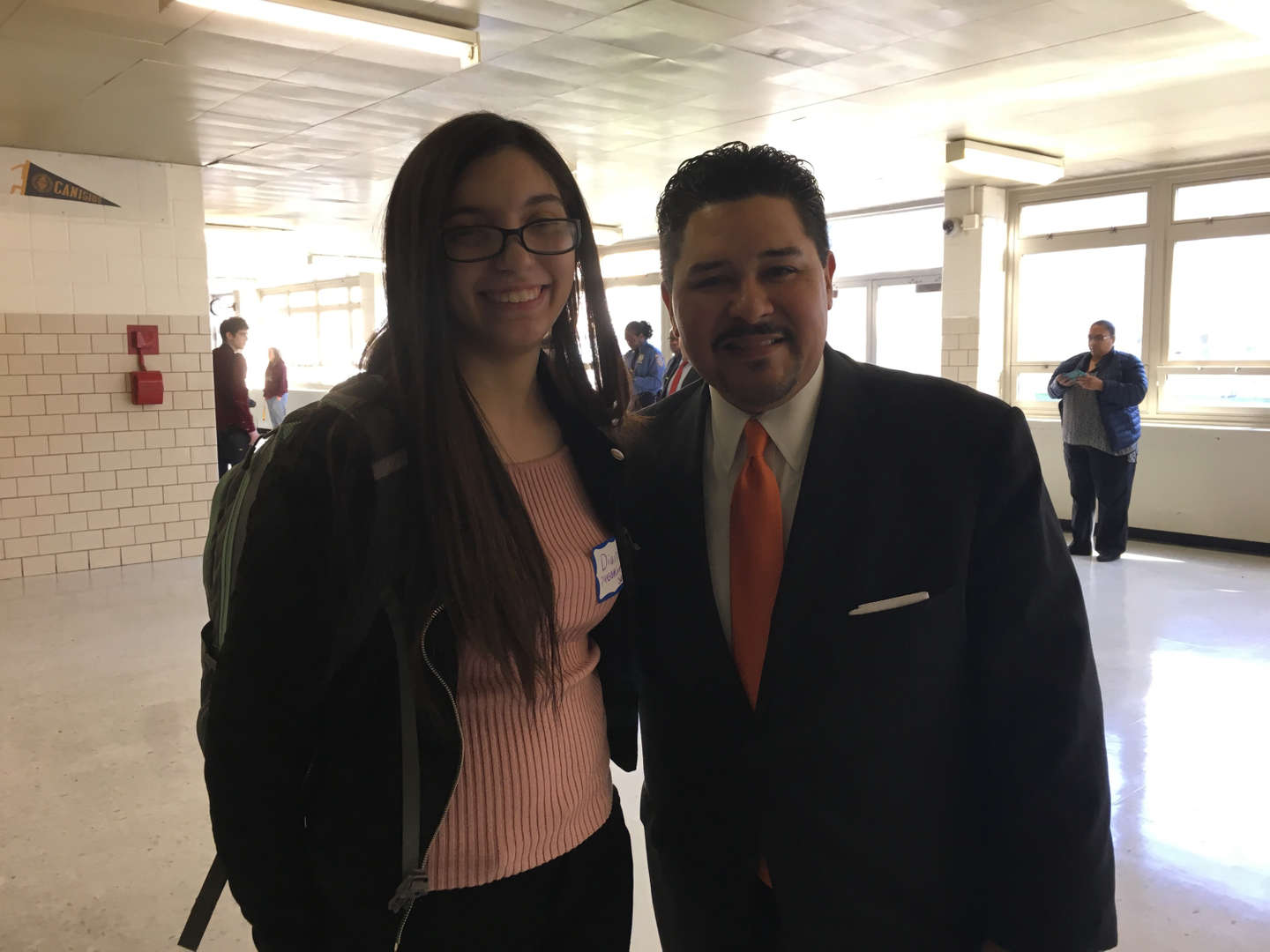 The D75 Samuel Stern Award Winner &  School Chancellor Carranza.