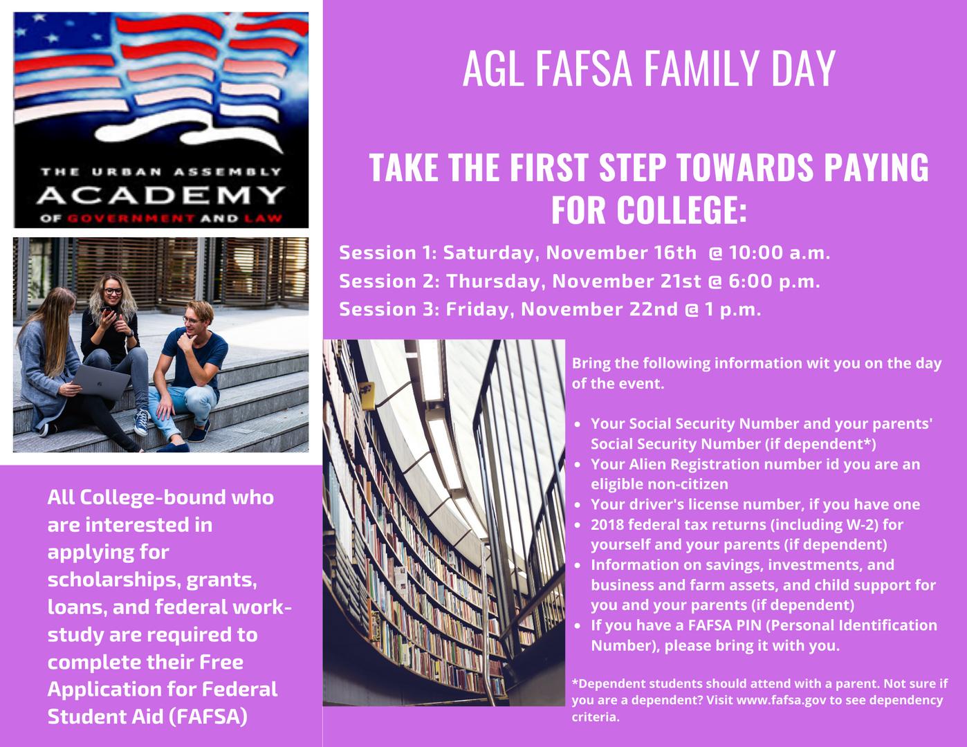 AGL FAFSA Family Day