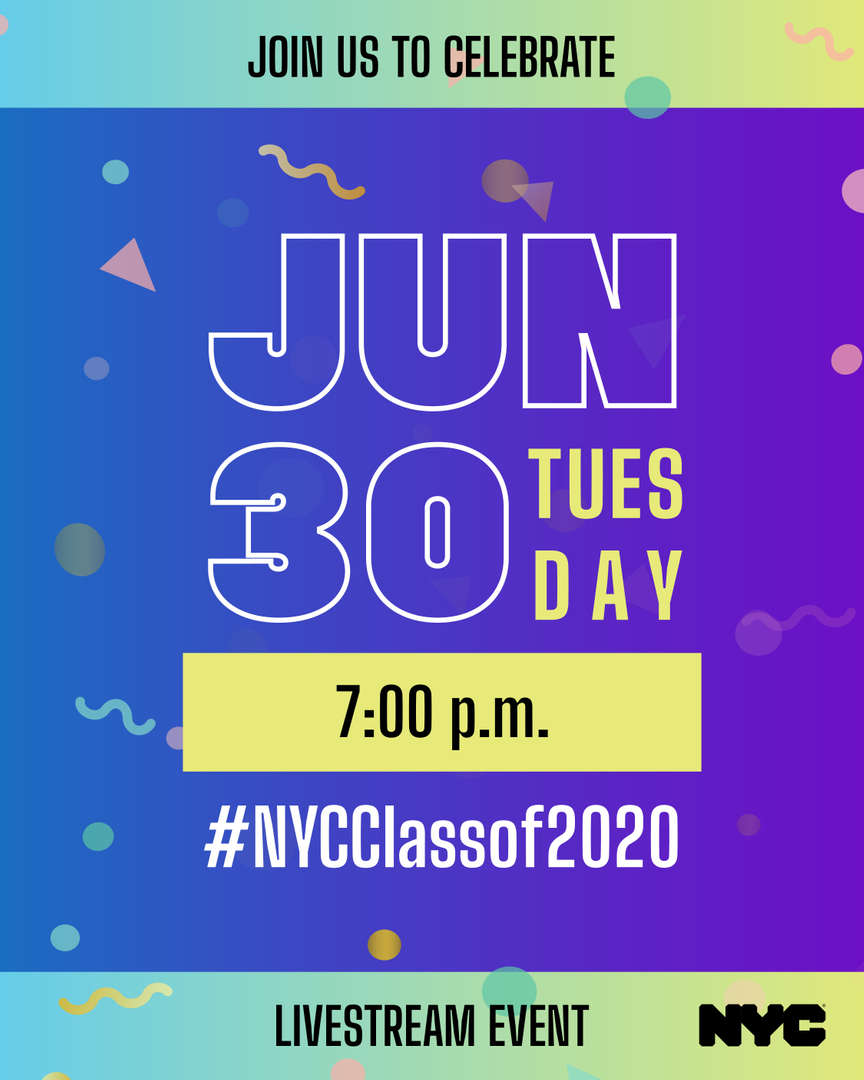 DOE invitation to Celebrate NYC class of 2020