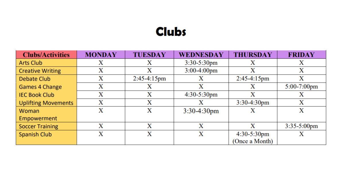 Virtual Club Hours
