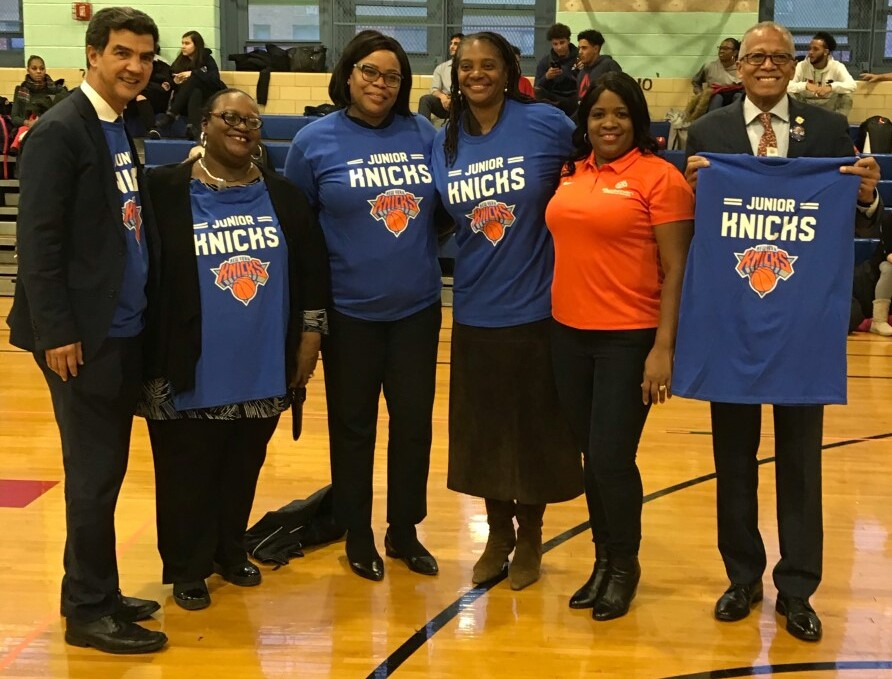 Principal Dr. Tait with Knick Junior's staff