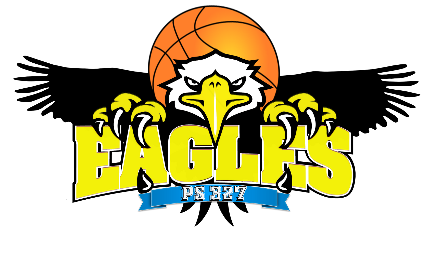 327 Eagles Basketball Team Logo