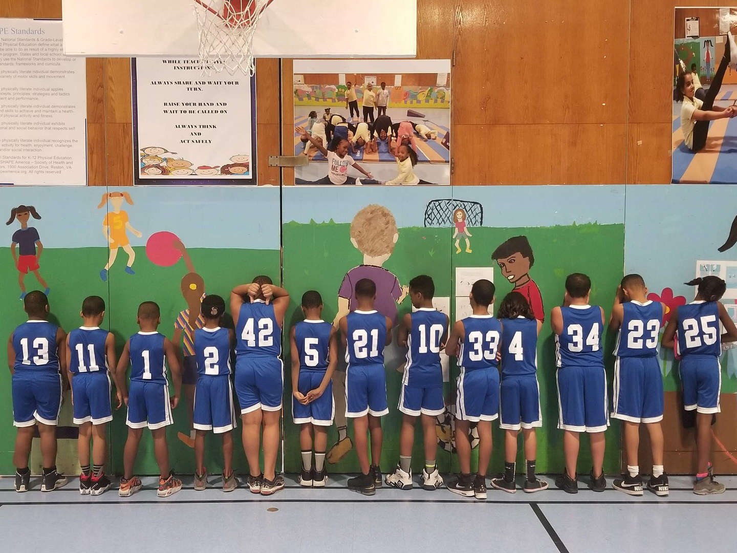 The PS 327 Eagles Basketball Team.