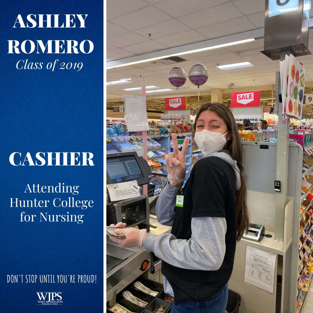 female grocery cashier in medical face mask
