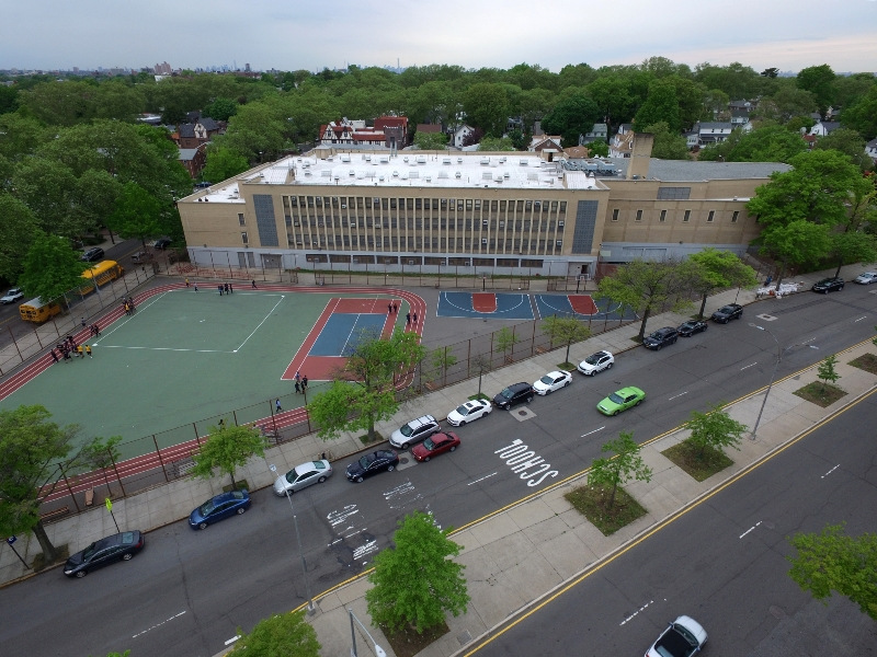 arial view of schoolyard